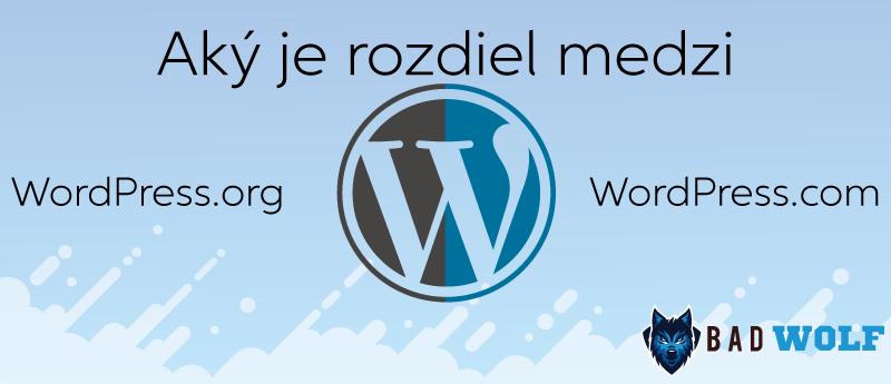 Rozdiel medzi WordPress.org a WordPress.com